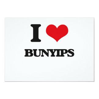 "I love Bunyips 5"" X 7"" Invitation Card"