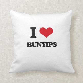 I love Bunyips Throw Pillows