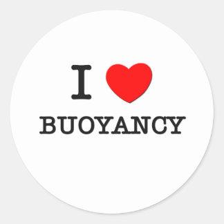 I Love Buoyancy Round Sticker