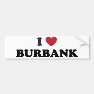 I Love Burbank California Car Bumper Sticker