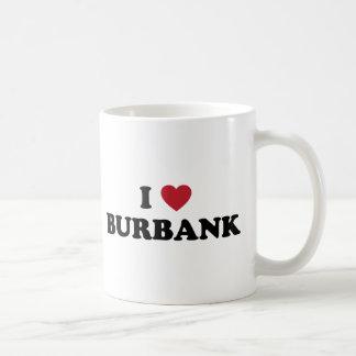 I Love Burbank California Classic White Coffee Mug