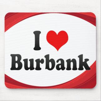 I Love Burbank, United States Mousepad