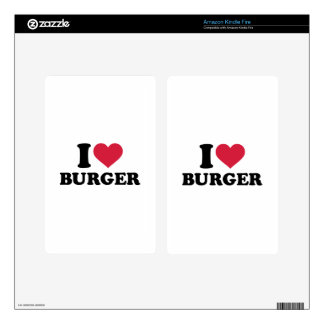I love Burger Decals For Kindle Fire