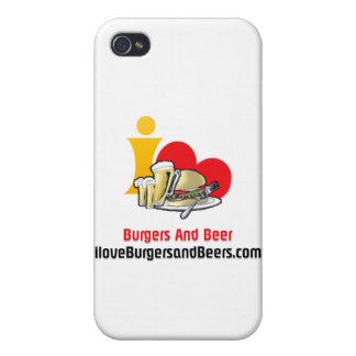 I Love Burgers and Beer Burgers Case For iPhone 4