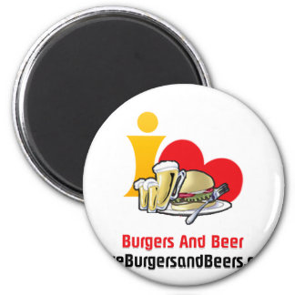 I Love Burgers and Beer Burgers Magnets