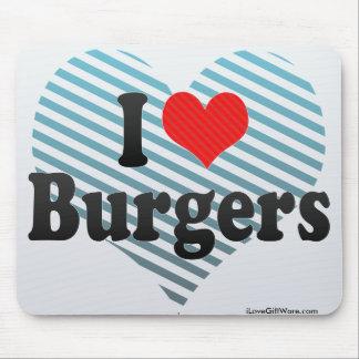 I Love Burgers Mouse Pad