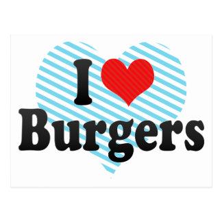 I Love Burgers Postcard