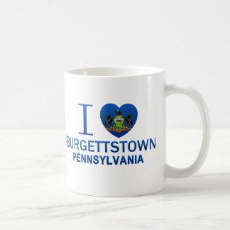 I Love Burgettstown, PA Classic White Coffee Mug