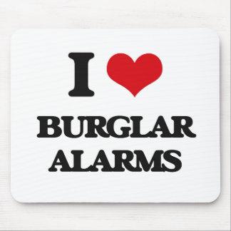 I Love Burglar Alarms Mousepads