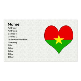 I Love Burkina Business Card Template