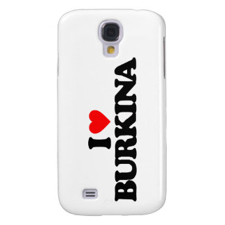 I LOVE BURKINA SAMSUNG GALAXY S4 CASES