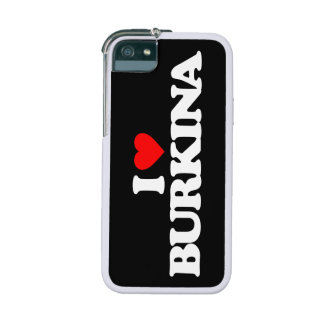 I LOVE BURKINA CASE FOR iPhone 5/5S
