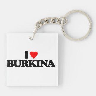 I LOVE BURKINA Double-Sided SQUARE ACRYLIC KEYCHAIN