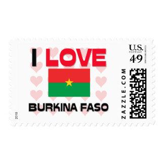 I Love Burkina Faso Stamps