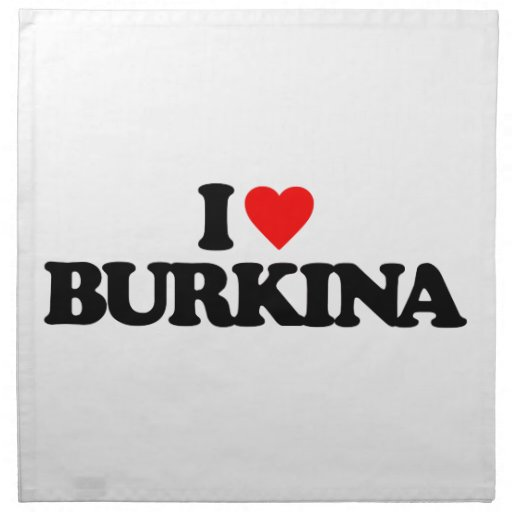 I LOVE BURKINA NAPKINS