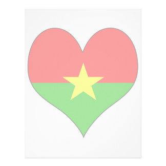 I Love Burkina Personalized Letterhead