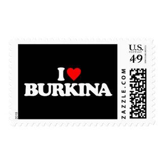 I LOVE BURKINA STAMPS