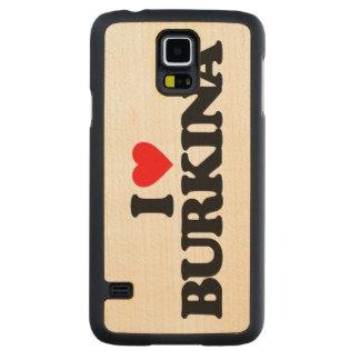 I LOVE BURKINA CARVED® MAPLE GALAXY S5 CASE