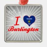 I Love Burlington, Wisconsin Christmas Ornament