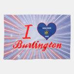 I Love Burlington, Wisconsin Hand Towel