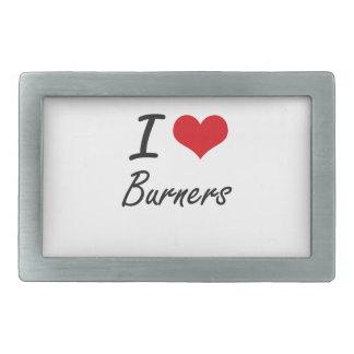 I Love Burners Artistic Design Belt Buckles