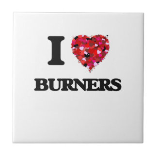 I Love Burners Small Square Tile