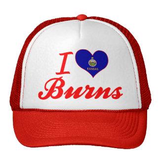 I Love Burns, Kansas Mesh Hats
