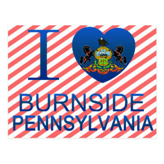 I Love Burnside, PA Postcard