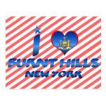 I love Burnt Hills, New York Postcard