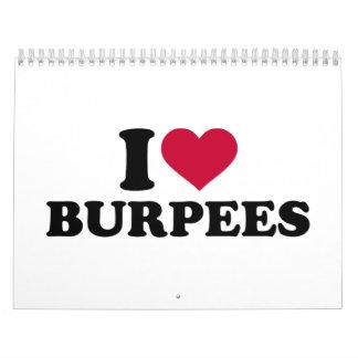 I love Burpees Calendar