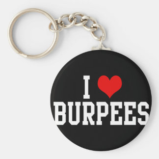 I Love Burpees, Fitness Basic Round Button Keychain