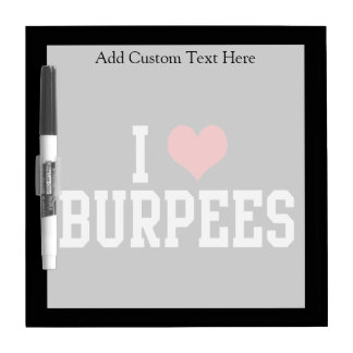 I Love Burpees, Fitness Dry Erase Boards