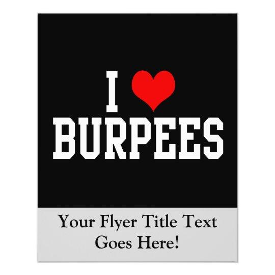 I Love Burpees, Fitness Flyer