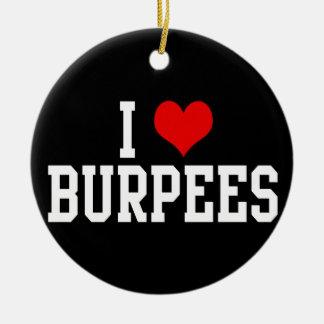 I Love Burpees, Fitness Christmas Tree Ornament