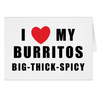 I Love Burritos Card