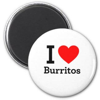 I Love Burritos Refrigerator Magnet