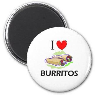 I Love Burritos Fridge Magnet