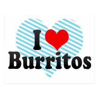 I Love Burritos Postcard
