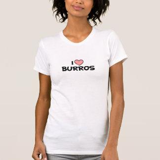 I Love Burros Design Tees