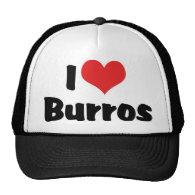 I Love Burros Mesh Hat