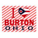 I love Burton, Ohio Postcard