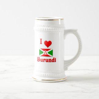 I Love Burundi Beer Stein