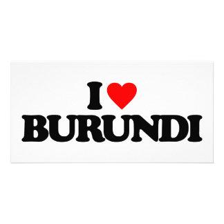 I LOVE BURUNDI CUSTOM PHOTO CARD