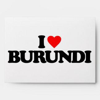 I LOVE BURUNDI ENVELOPES