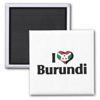 I Love Burundi Flag Magnet