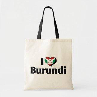 I Love Burundi Flag Tote Bag