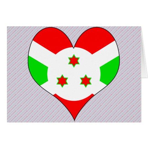 I Love Burundi Greeting Card