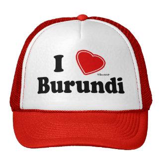 I Love Burundi Mesh Hat