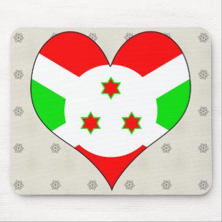 I Love Burundi Mouse Pads
