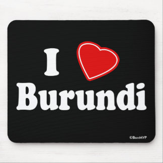 I Love Burundi Mousepad